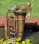 Recycled Tuba Bird Bath